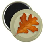 "White Oak Leaf 2.25"" Magnet (100 pack)"