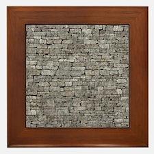 STONE WALL GREY Framed Tile