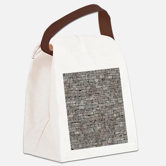 STONE WALL GREY Canvas Lunch Bag