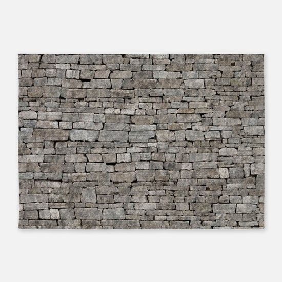STONE WALL GREY 5'x7'Area Rug