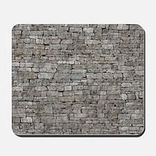 STONE WALL GREY Mousepad