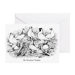 Shortface Tumbler Pigeons Greeting Cards (Pk of 10