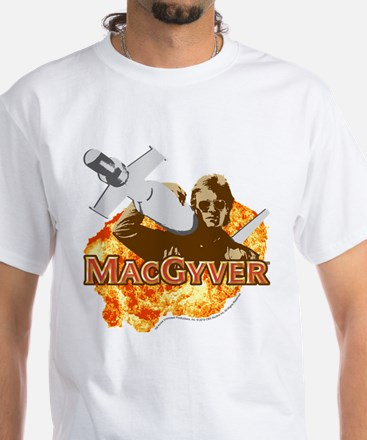MacGyver In Action White T-Shirt