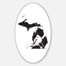 Ski Michigan Sticker (Oval)