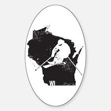 Ski Wisconsin Sticker (Oval)