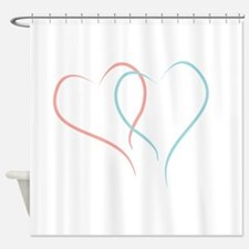 Twin Hearts™ by Leslie Harlow Shower Curtain