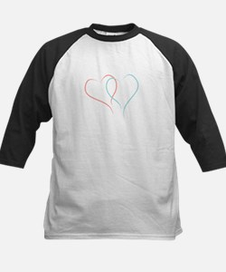 Twin Hearts™ by Leslie Harlow Baseball Jersey