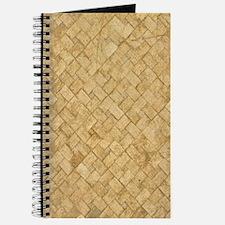 TAN DIAMOND BRICK Journal