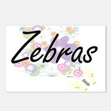 Zebras artistic design wi Postcards (Package of 8)
