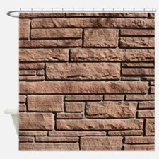 SANDSTONE BRICK Shower Curtain