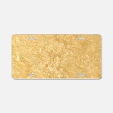 NOCE TRAVERTINE Aluminum License Plate
