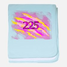 Cat Claw Camouflage Area Code 225 baby blanket