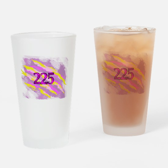 Cat Claw Camouflage Area Code 225 Drinking Glass