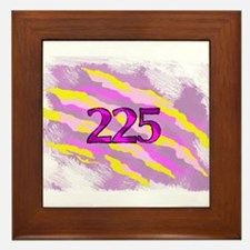 Cat Claw Camouflage Area Code 225 Framed Tile