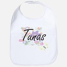 Tunas artistic design with flowers Bib