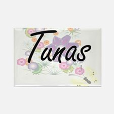 Tunas artistic design with flowers Magnets