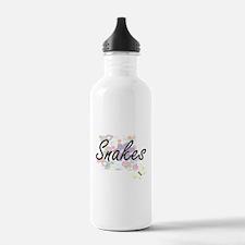 Snakes artistic design Water Bottle
