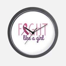 Fight Like Girl Wall Clock