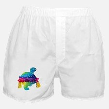 Rainbow Turtle With Multicolored Hear Boxer Shorts