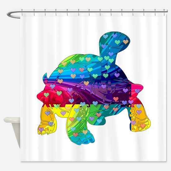 Rainbow Turtle With Multicolored He Shower Curtain