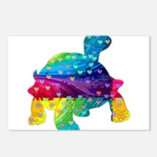 Rainbow Turtle With Multi Postcards (Package of 8)