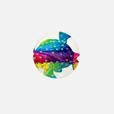 Rainbow Turtle With Multicol Mini Button (10 pack)