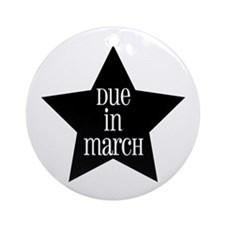 Due in March Star Ornament (Round)