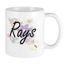 Rays artistic design with flowers Mugs