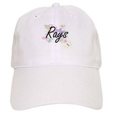 Rays artistic design with flowers Baseball Cap
