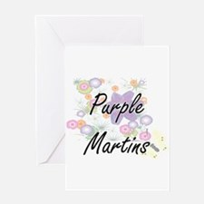 Purple Martins artistic design with Greeting Cards
