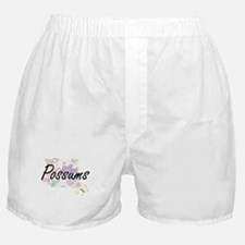 Possums artistic design with flowers Boxer Shorts
