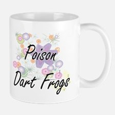 Poison Dart Frogs artistic design with flower Mugs