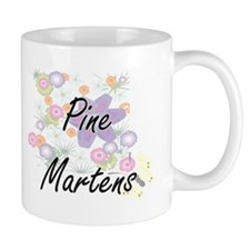 Pine Martens artistic design with flowers Mugs