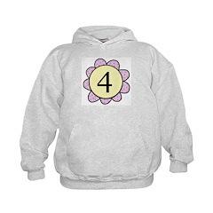 four purple/yellow flower Hoodie