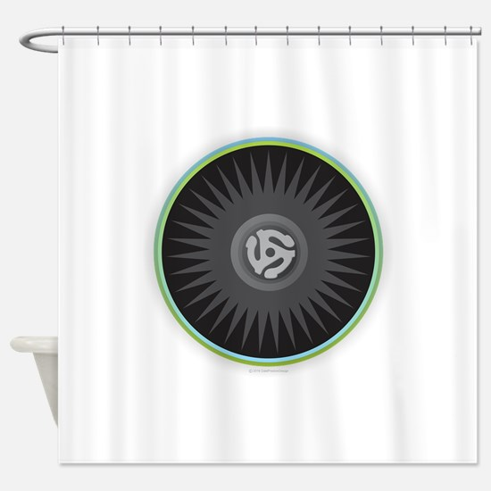 45 RPM Record Shower Curtain