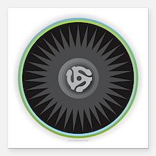 "45 RPM Record Square Car Magnet 3"" x 3"""