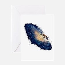 Galaxy Surfer Greeting Cards