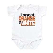 I Sweat Orange and White Infant Bodysuit