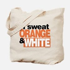 I Sweat Orange and White Tote Bag