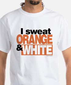 I Sweat Orange and White Shirt