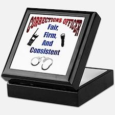 Corrections Officer 3 Keepsake Box