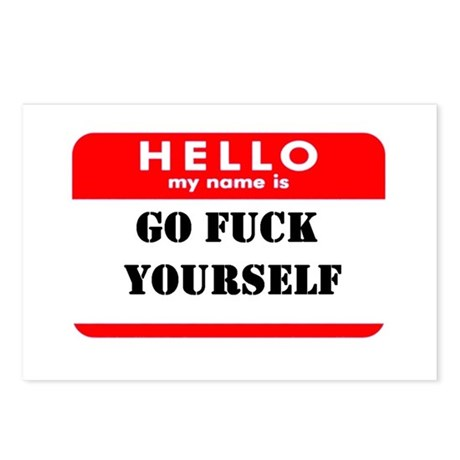 Go Fuck Yourself Nametag Postcards (Package of 8)