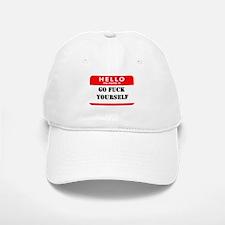 Go Fuck Yourself Nametag Baseball Baseball Cap