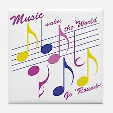Music Makes The World Tile Coaster