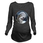 Alaskan Malamute Long Sleeve Maternity T-Shirt