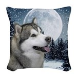 Alaskan Malamute Woven Throw Pillow