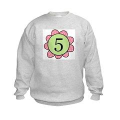 5 pink/green flower Sweatshirt