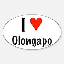 I love Olongapo Oval Decal