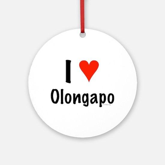 I love Olongapo Ornament (Round)