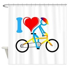 Cute Bicycle riders Shower Curtain